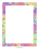 Splash Border Pastel page border