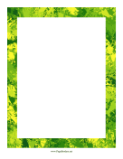 Splash Border Summer page border