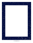 Starry Night Sky Border page border