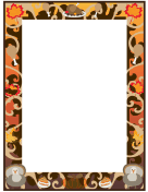 photograph relating to Free Printable Thanksgiving Borders named Family vacation and Seasonal Borders